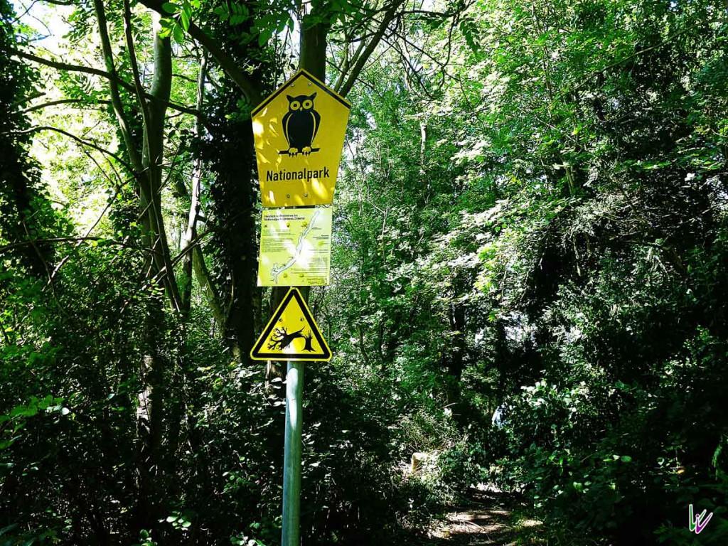 Nationalparkschild Unteres Odertal
